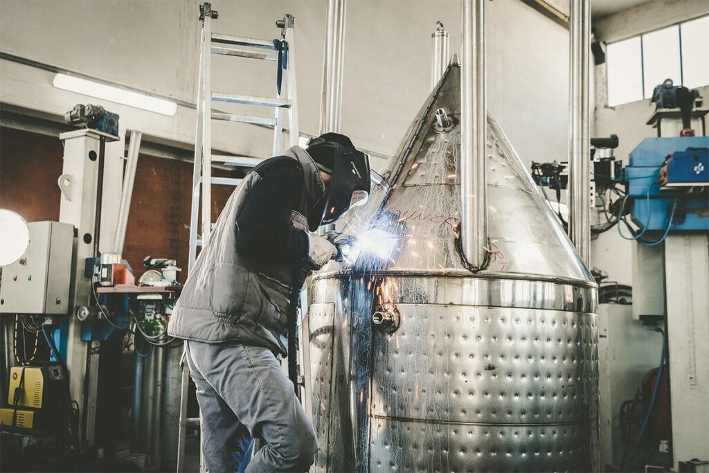 Toscana Inox Contenitore semplice per olio in acciaio